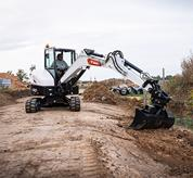 Bobcat compact excavator (mini excavator) with X-frame undercarriage