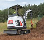 Bobcat Excavator with Canopy option.