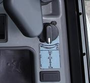Rotary speed control knob inside Bobcat compact excavators (mini excavators).