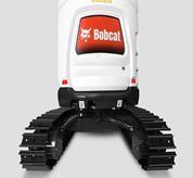 Bobcat compact (mini) excavator with retractable undercarriage.