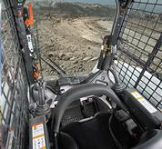 Bobcat compact track loader and skid-steer loader cab.