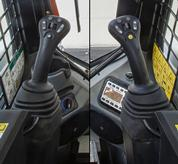 Bobcat loader fingertip switches on selectable joystick controls (SJC).