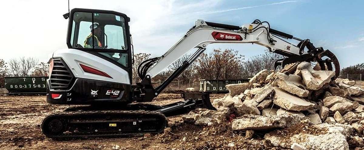 Bobcat E42 compact excavator (mini excavator).