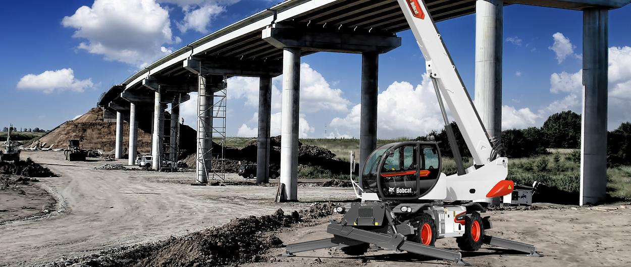 Bobcat Rotary Telescopic Handlers TR40250EVO with Man Platform Attachment