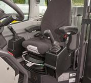 High comfort air suspension seat