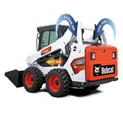 Dual-path cooling system on Bobcat skid-steer loader.