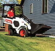 An articulation joint enables the rear tires to match the path of the front tires when turning, for a highly nimble machine that navigates around obstacles and works well in tight areas.