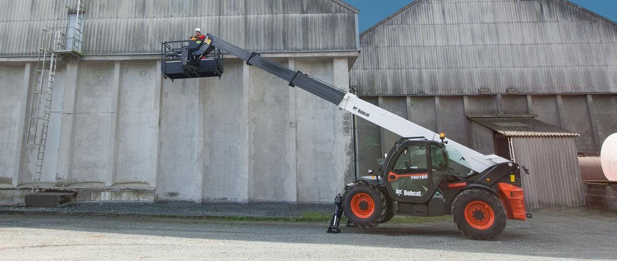Bobcat Telescopic Handler T40180 with Manplatform attachment
