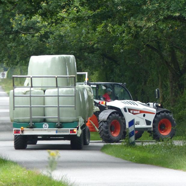 Prestaties: telescopische lader met CE-homologatie als tractor