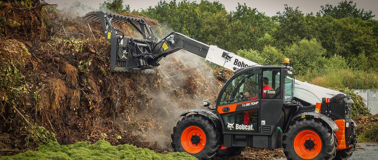 Bobcat TL38.70HF Telescopic Loader with Grapple Bucket