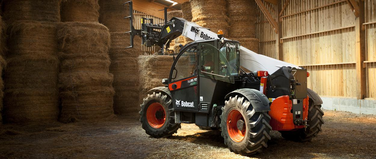 Bobcat Telescopic Loader TL35.70 AGRI with Bale Handler with Tines attachment