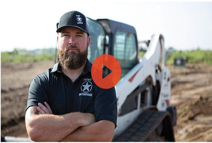 Video Preview Showing Patriot Enterprises Owner Posing With His Bobcat Compact Track Loader