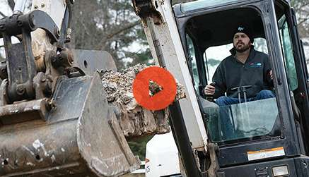 Video Preview Showing Excavation Business Owner In His Bobcat Mini Excavator