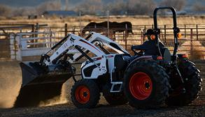 Acreage Owner Grades Horse Arena Using Compact Tractor With Front-End Loader Attachment