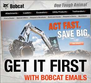 Bobcat email subscription sign-up.