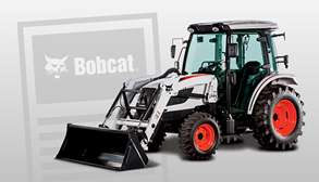 Bobcat Tractor On Email Subscribe Background