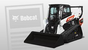 Bobcat Compact Track Loader On Email Subscribe Background