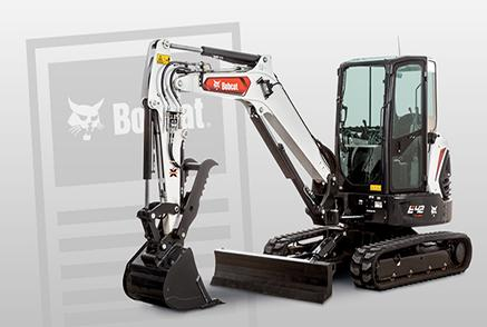 Bobcat Excavator With Bobcat News Icon