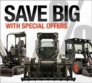 Special offers for machines and attachments.