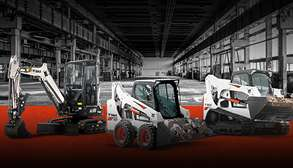 Leased Bobcat Equipment on Construction Jobsite