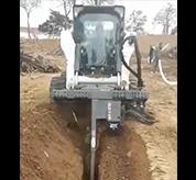 Cutting a trench