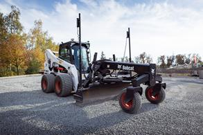 SKID-STEER LOADER WITH GRADER ATTACHMENT CONCEPT IS GROWING