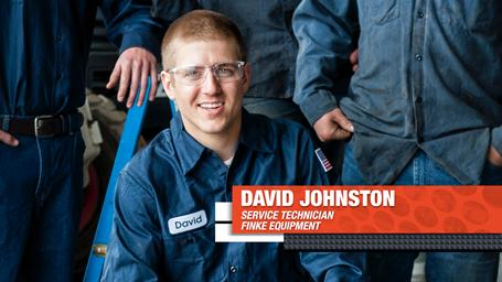 Finke Equipment's Bobcat service technician David Johnston.