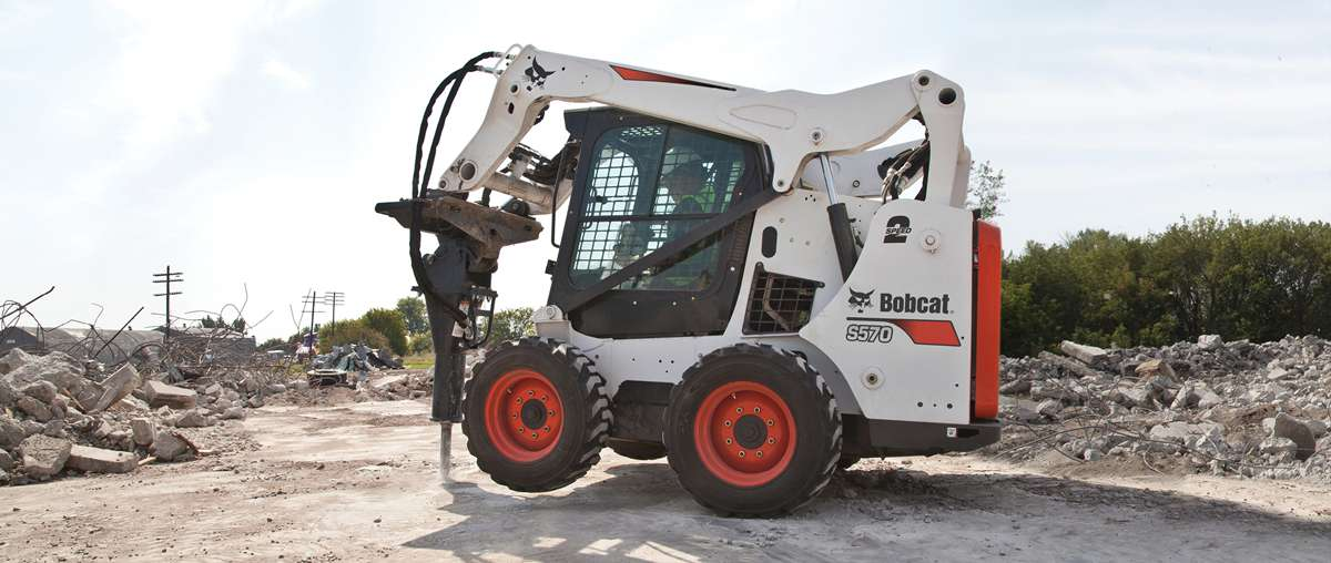 Bobcat S570 Skid-Steer Loader with Breaker Attachment