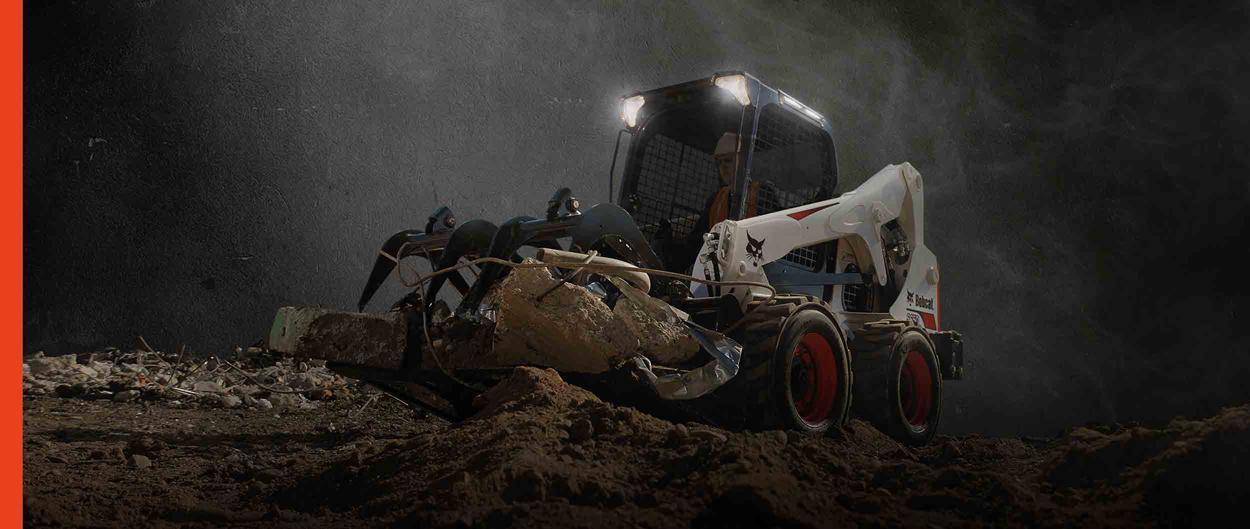 Bobcat S650 skid-steer loader with light kit