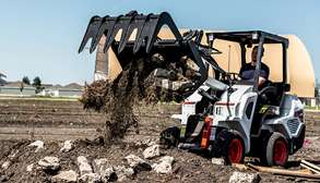 Bobcat Small Articulating Loader With Grapple Attachment