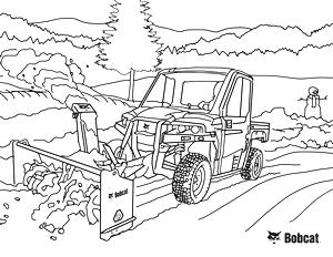 Utility Vehicle Coloring Sheet
