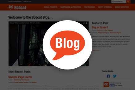 Screenshot of Bobcat Experts blog.