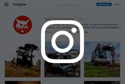Screenshot of Bobcat Instagram account