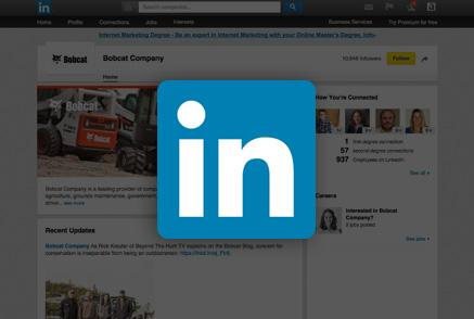 Screenshot of Bobcat LinkedIn page.