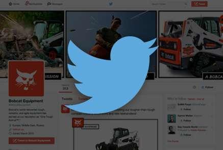 Screenshot of Bobcat Twitter account.
