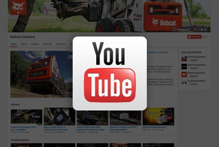 Screenshot of Bobcat YouTube channel.
