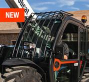 Window guards on the VersaHANDLER V519 telehandler.