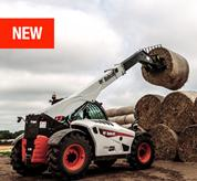 V723 VersaHANDLER (telehandler) telescopic tool carrier and bucket grapple attachment.