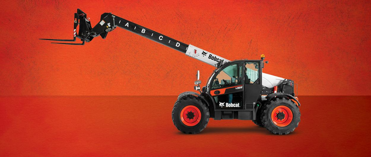 New Bobcat V923 VersaHANDLER Telescopic Tool Carrier with Pallet Fork Attachment