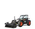 V723 VersaHANDLER (telehandler) telescopic tool carrier and grapple attachment.
