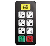 Keypad used with the keyless start system on Toolcat utility work machines.