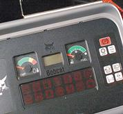 LCD display on a Toolcat utility work machine.