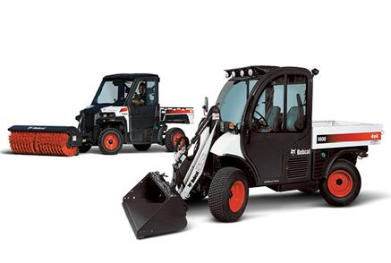 Bobcat utility vehicle (UTV) and Toolcat utility work machine.