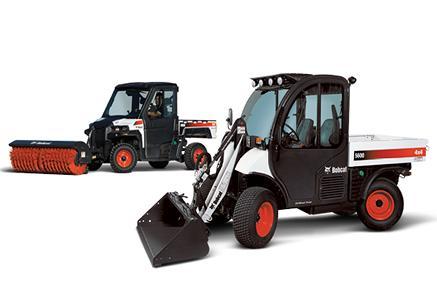 Bobcat utility vehicle (UTV) and Toolcat utility work machine.