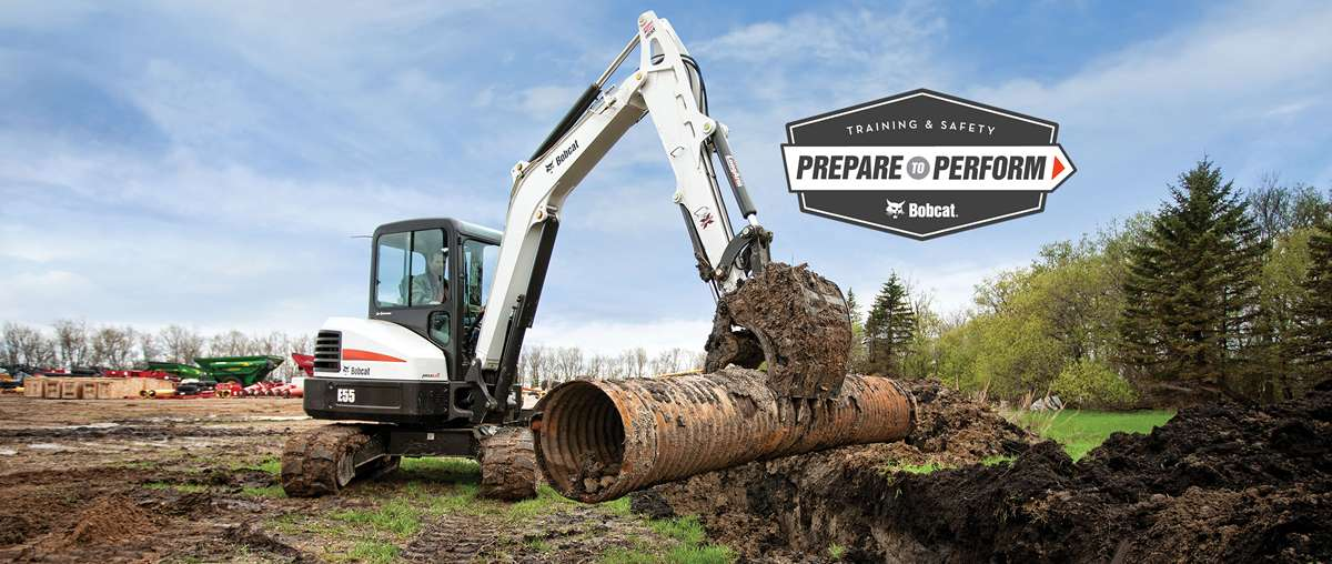 Bobcat compact excavator (mini excavator) training courses, safety videos and other resources.
