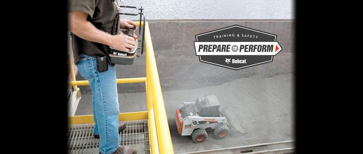 Bobcat planer attachment operator training course.