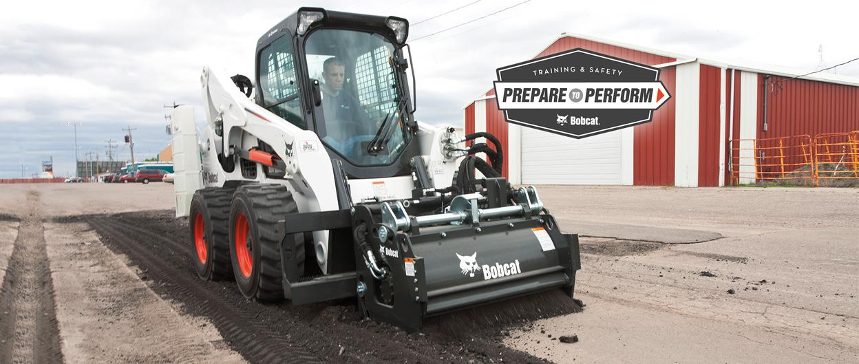 Bobcat planer attachment operator training course.