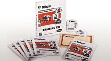 Operator training course for the Bobcat loader radio remote control.