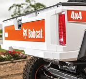 Rear tailgate of Bobcat 3400 utility vehicle.