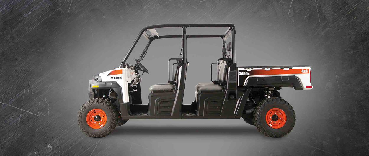 Bobcat 3400XL UTV on a gray background.